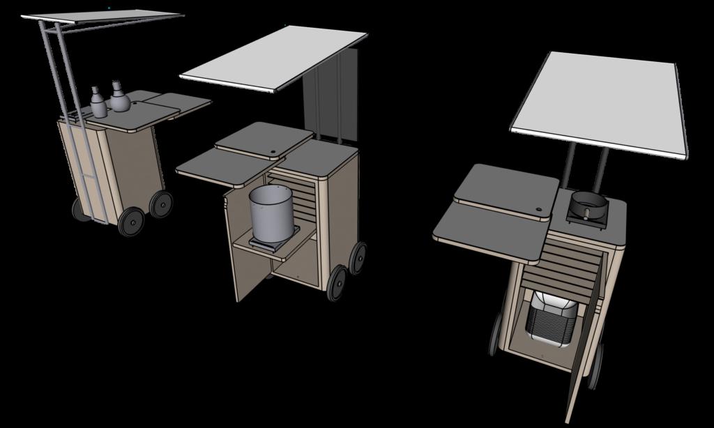 """弁当専用デリバリーカート The Stand """"HF-104"""" Designcafe"""